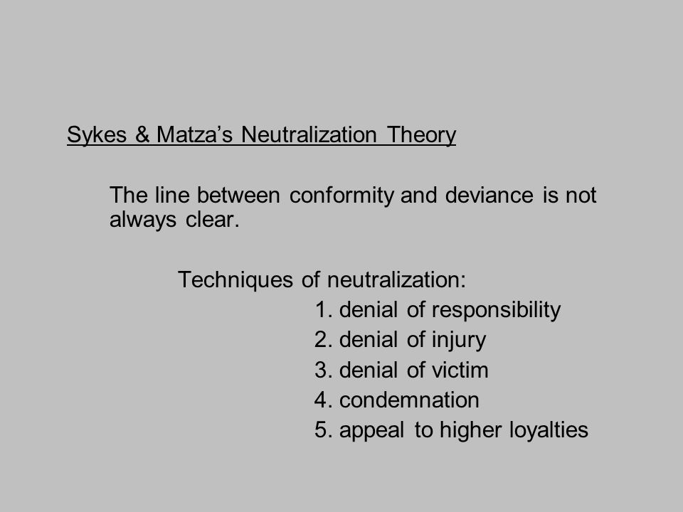 techniques of neutralization Title: author: tk0jkm1 created date: 7/7/2003 8:11:01 pm.