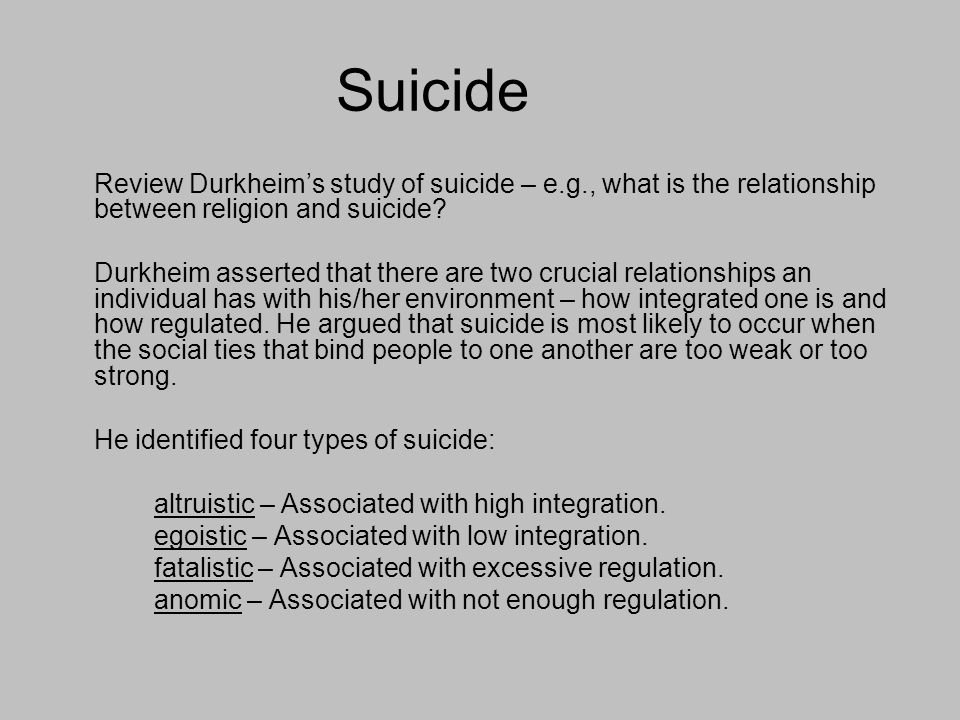 durkheim 's learn associated with suicide essay
