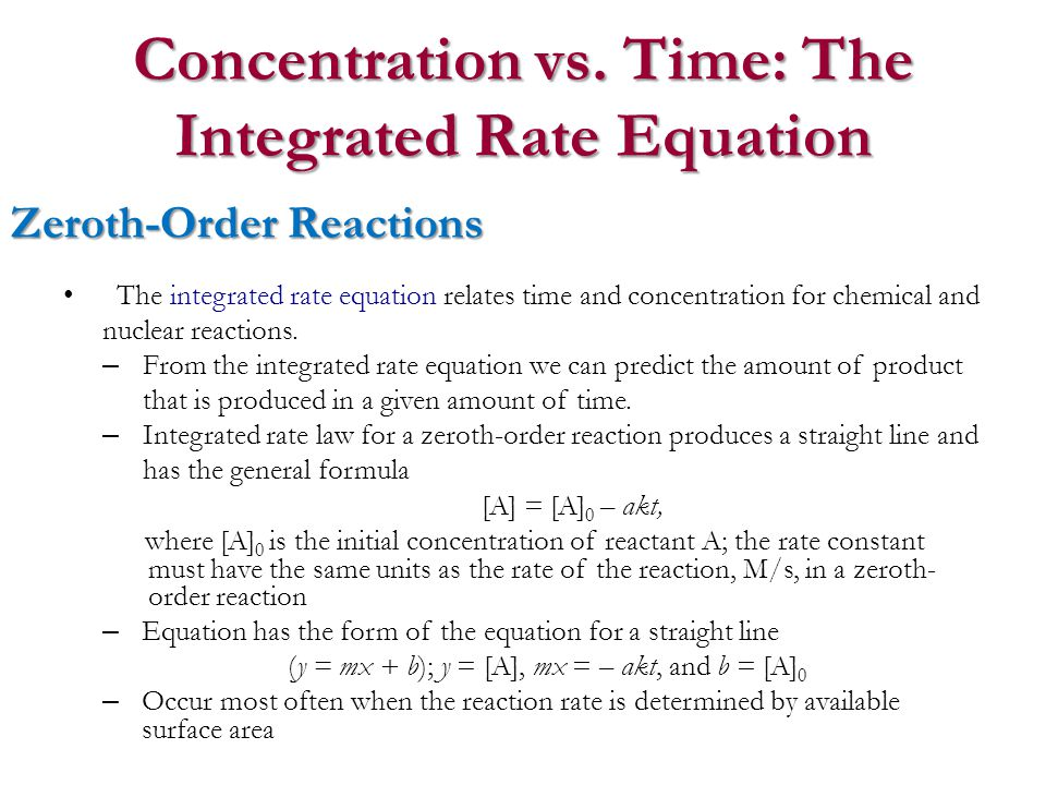 how to find reaction order given time and concentration