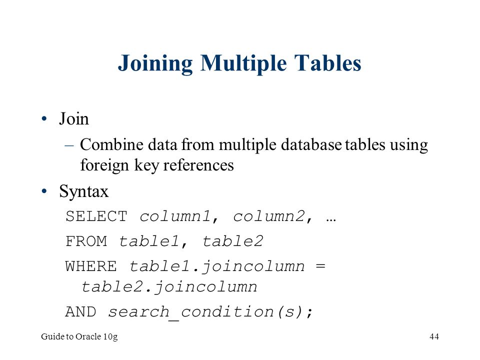 how to join multiple tables in sql