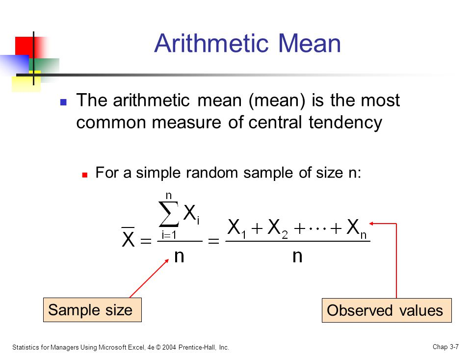 Arithmetic Mean