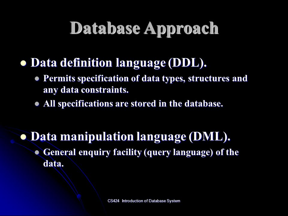 CS424 Introduction of Database System