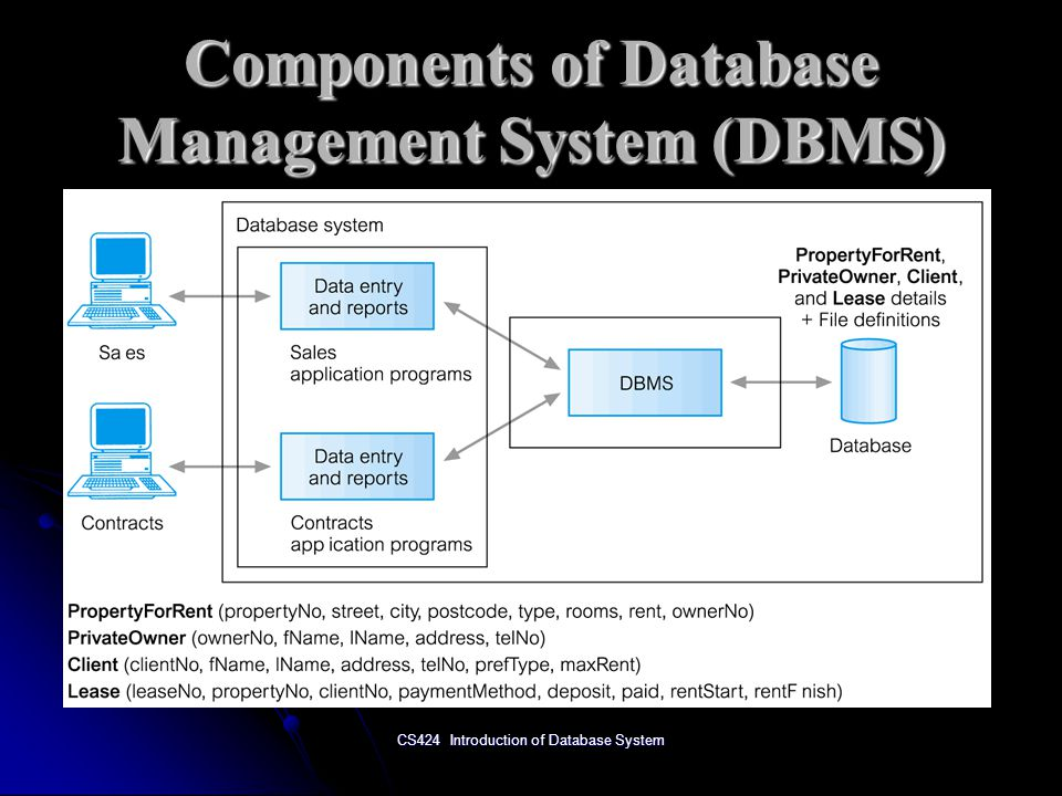 Components of Database Management System (DBMS)