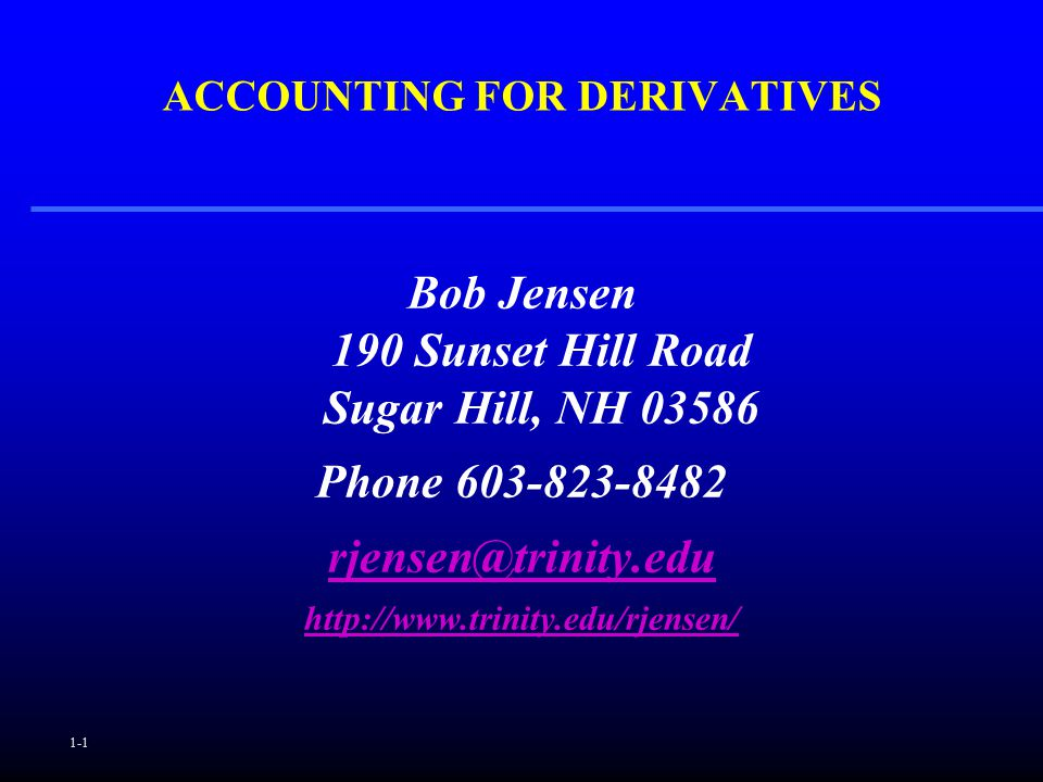accounting derivatives This dissertation aims to provide a comprehensive overview of the taxation of investment derivatives and the relationship between  ifrs rules in accounting,.