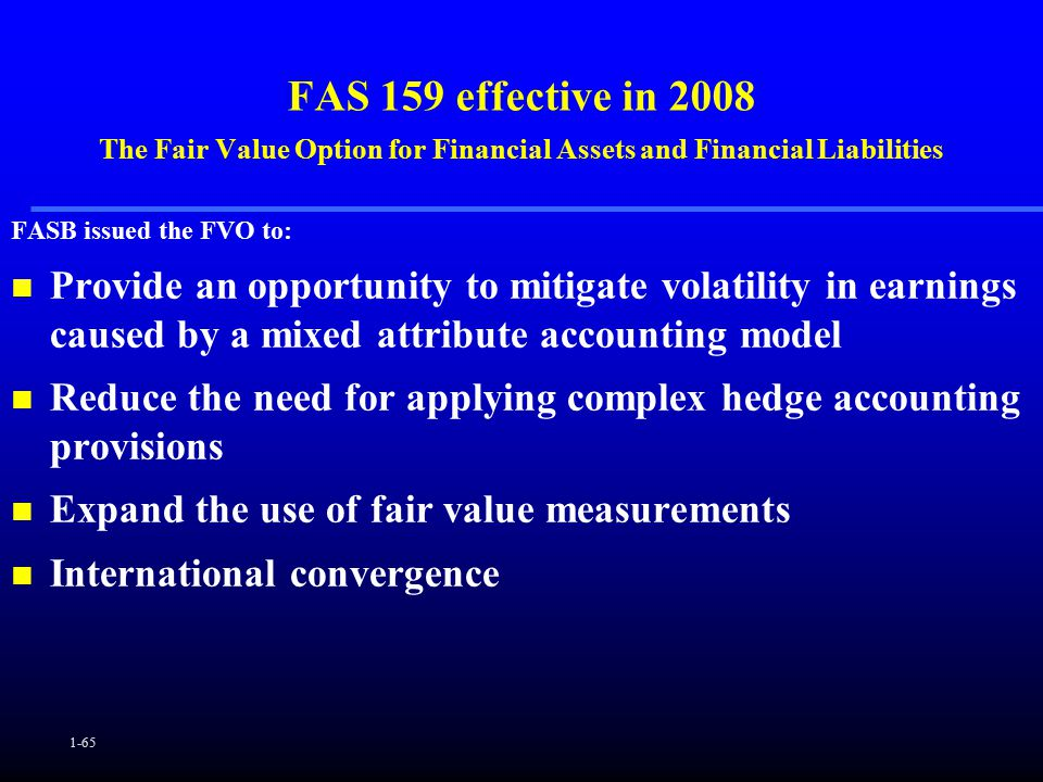 Fair value stock options accounting
