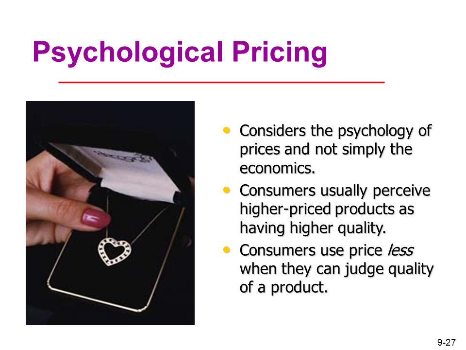 pricing and the psychology of consumption Over the last 5 weeks of our meetups, we've covered a lot of material on pricing and customer psychology we've studied hefty research papers, browsed through tons of online resources, read a few books, watched youtube videos, and had a few really good discussions on that topic.