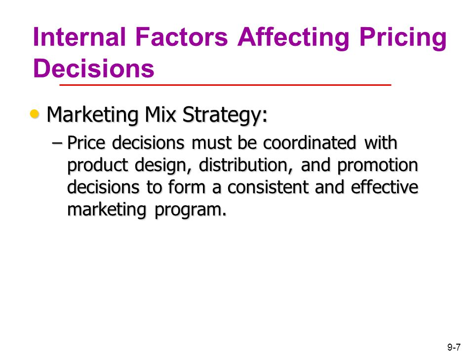 The factors affecting marketing strategy
