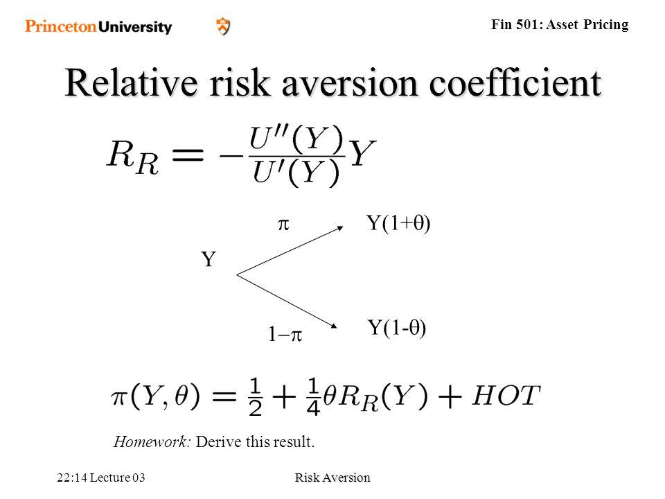 the arrow pratt coefficient Prudence coefficient and precautionary savings prudence coefficient and precautionary savings [dd5] 6 mean-variance preferences [l46] slide 04slide 04--66.