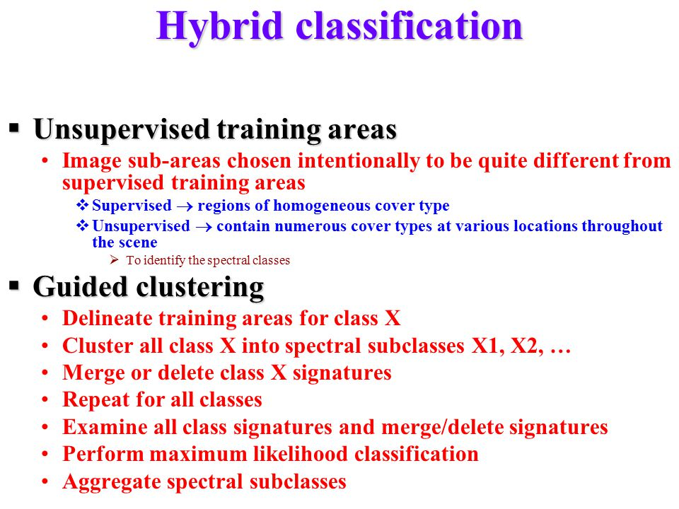 Hybrid classification