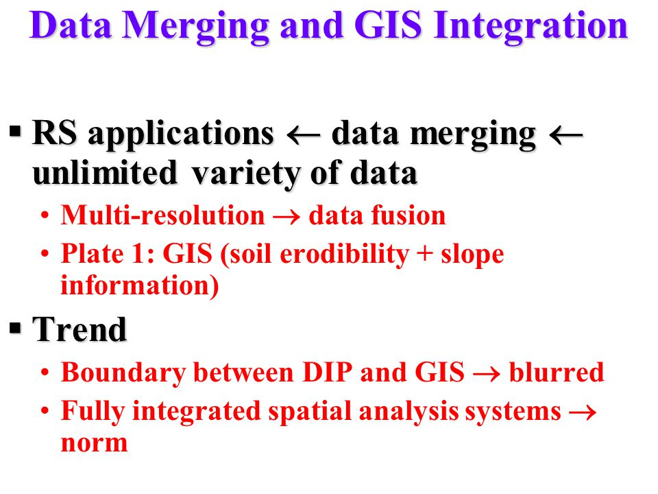 Data Merging and GIS Integration