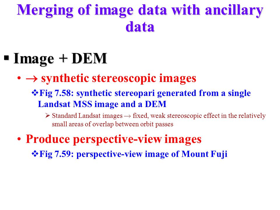 Merging of image data with ancillary data