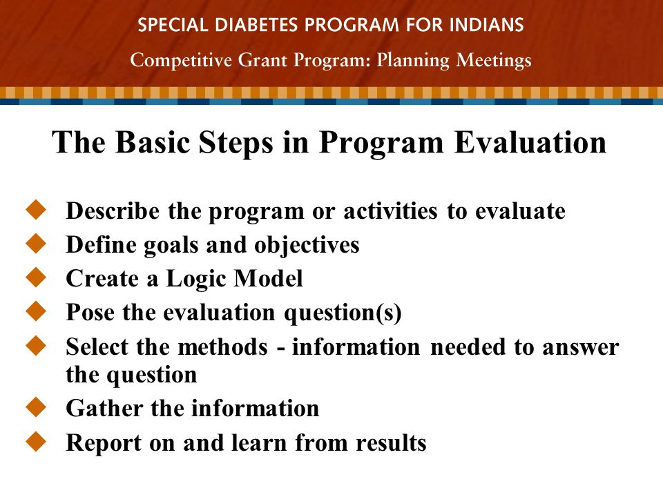 Program Evaluation Spero Manson Phd  Ppt Download