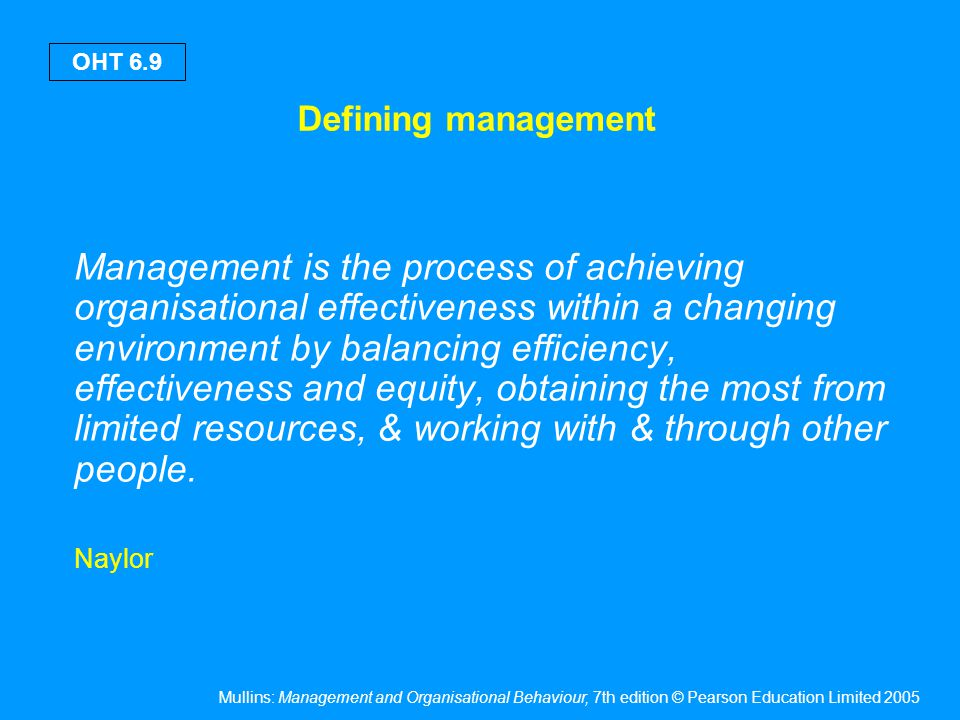Elements of management