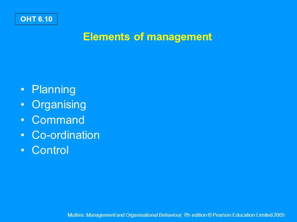 Flexible principles of management