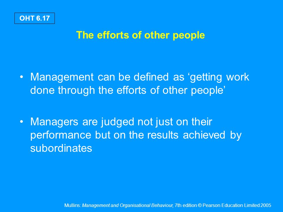 Factors affecting the work of managers