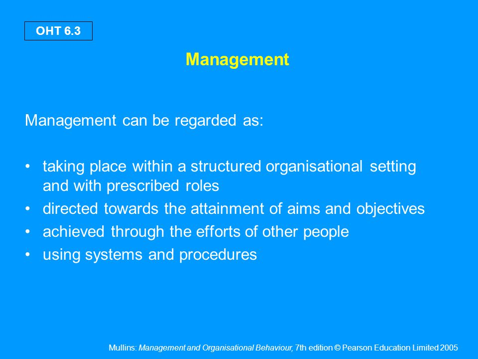 What is management A function The people who discharge it