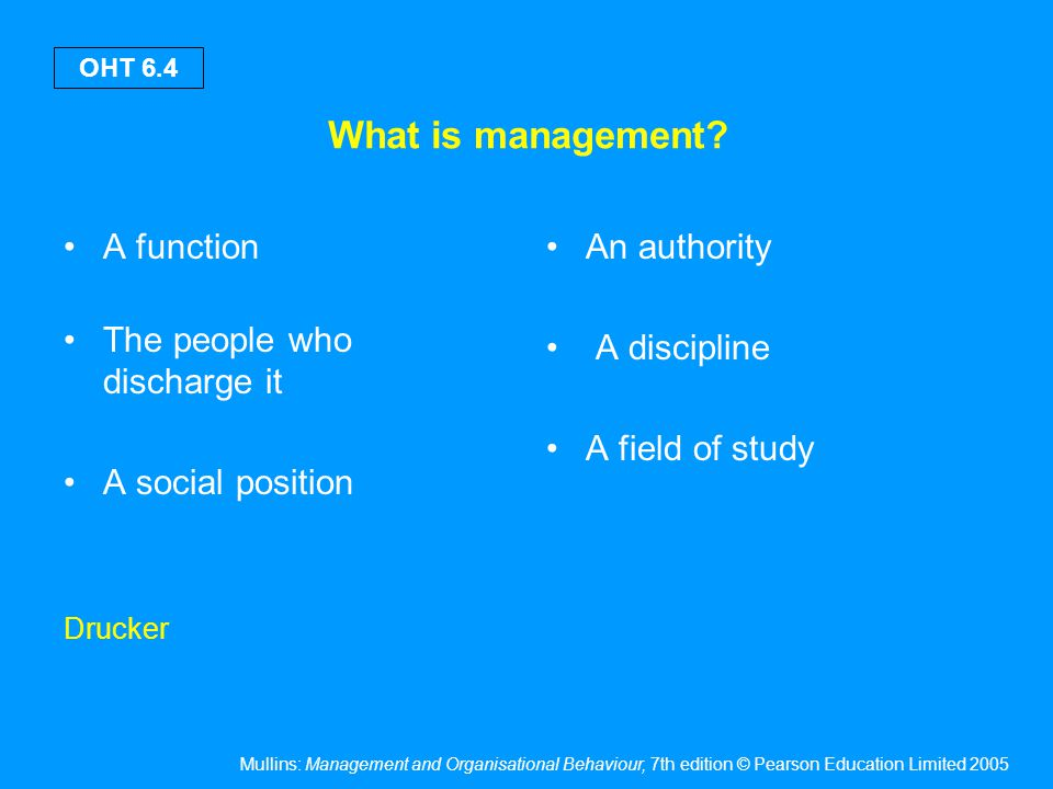 The emergence of management