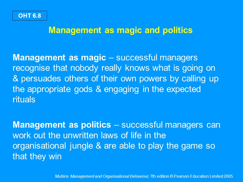 Defining management