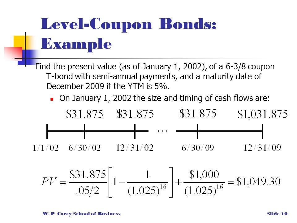 Level coupon bond formula