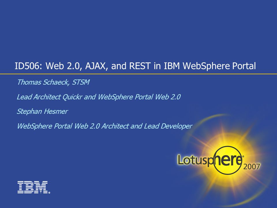 id506: web 2.0, ajax, and rest in ibm websphere portal - ppt download, Presentation templates