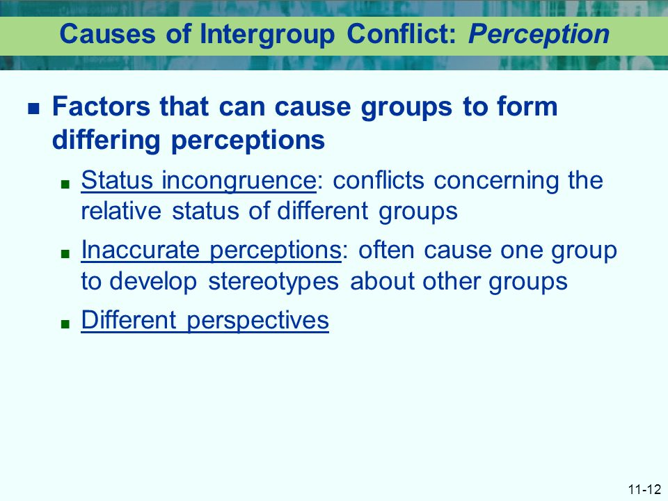 excessive intergroup conflict Excessive intergroup conflict recommendations to correct allows the team to handle the conflict and group productivity.