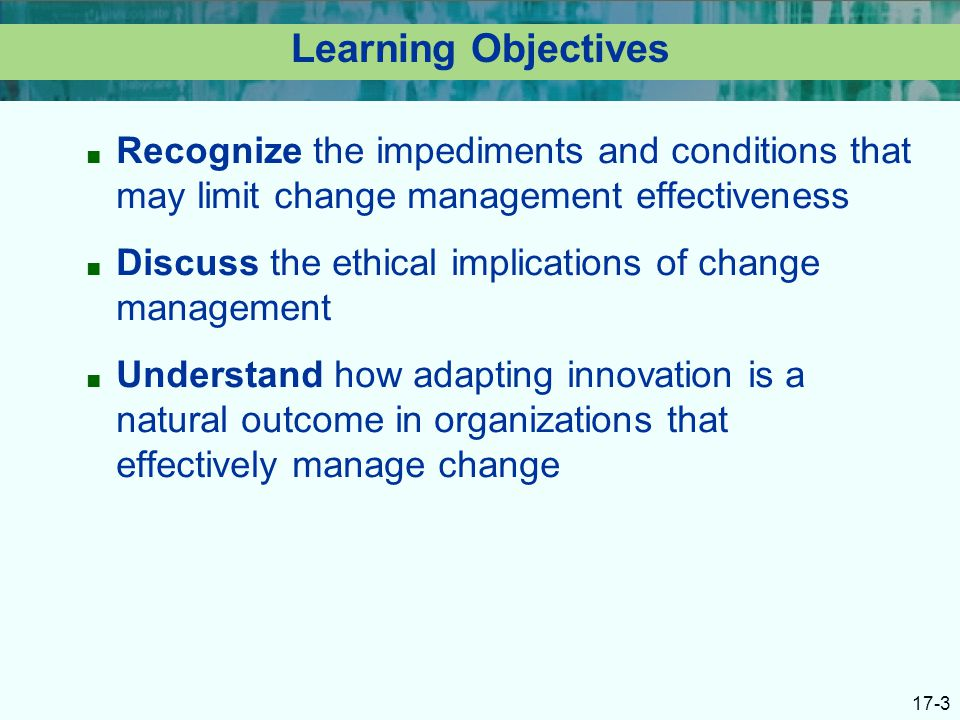 The Role of Ethics & Responsibilities in Leading Innovation & Change