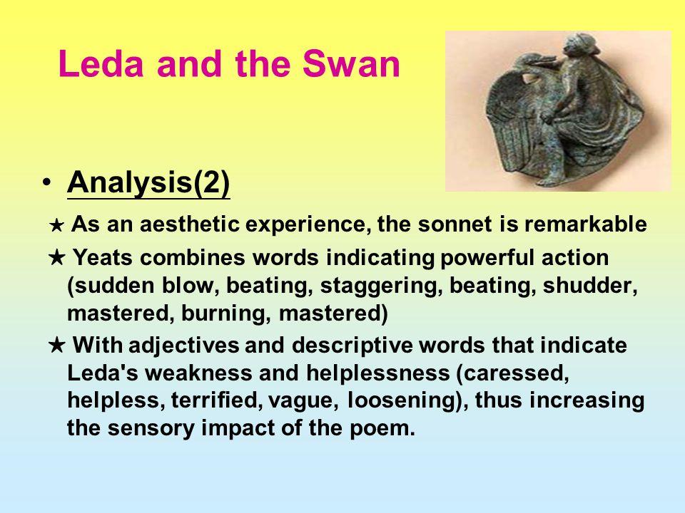 analysis of yeats poem leda and