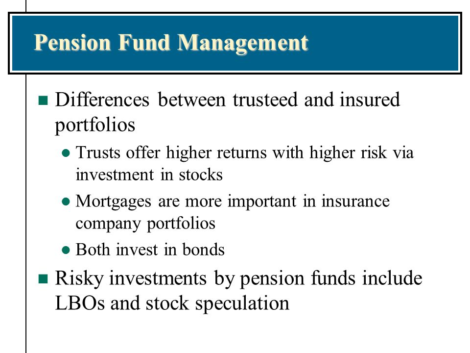 pension funds Uk defined benefit pension funds are large institutional investors they hold over  £15 trillion of assets, so their investment decisions can have.