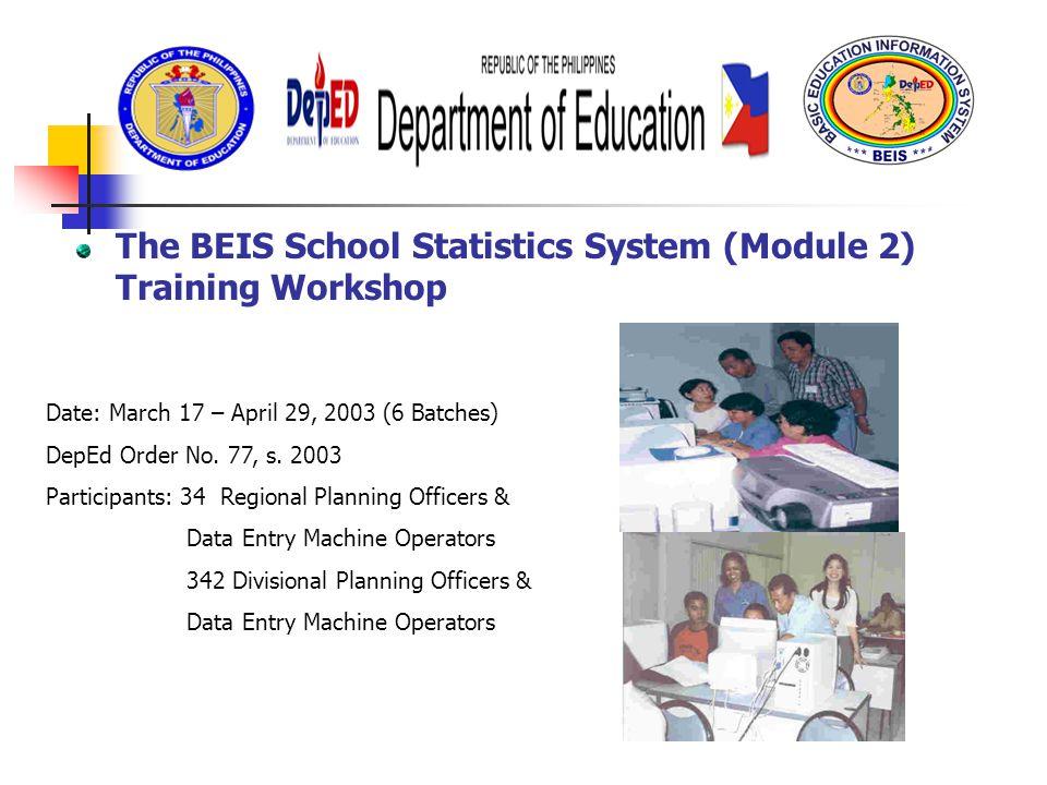 Financial management information system ppt video online download the beis school statistics system module 2 training workshop fandeluxe Gallery