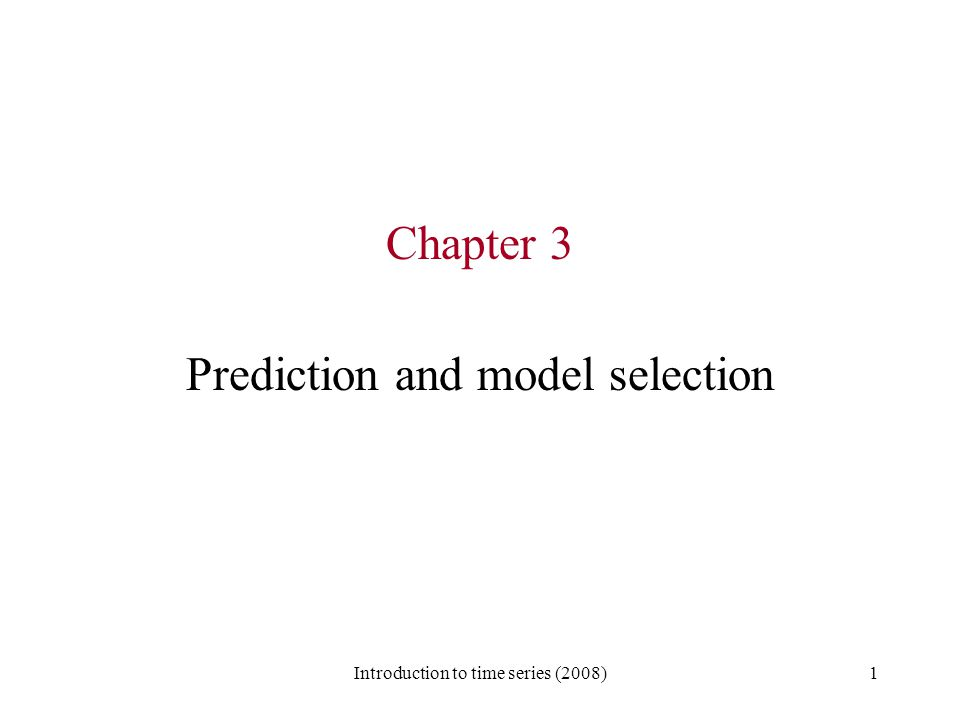 Prediction and model selection