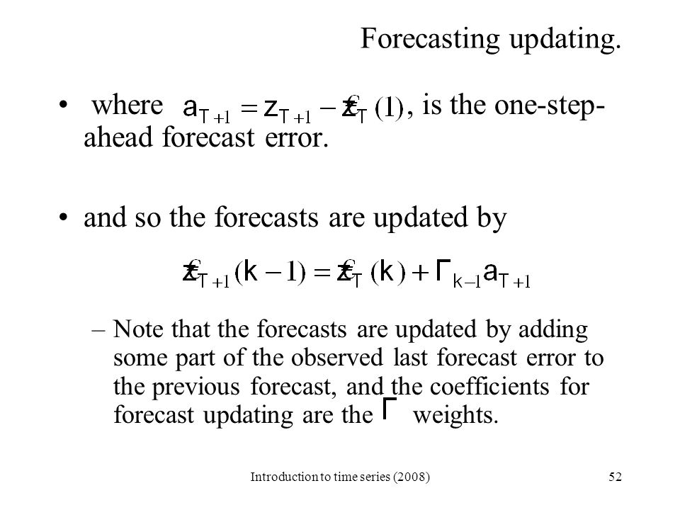 Introduction to time series (2008)