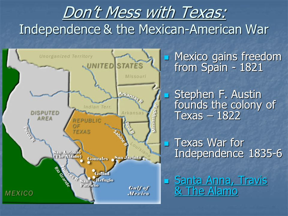 texas war for independence Amid increasing tension between its mexican rulers and anglo-american  occupants, revolution broke out in texas on october 2, 1835, with the battle of.
