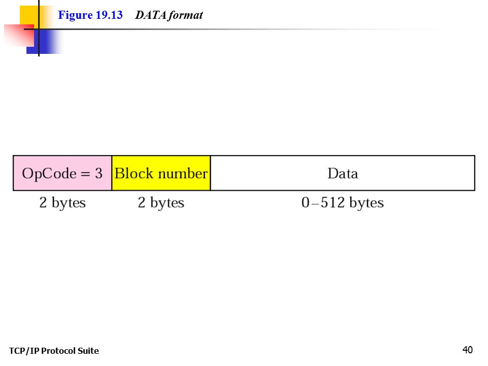 Figure DATA format TCP/IP Protocol Suite