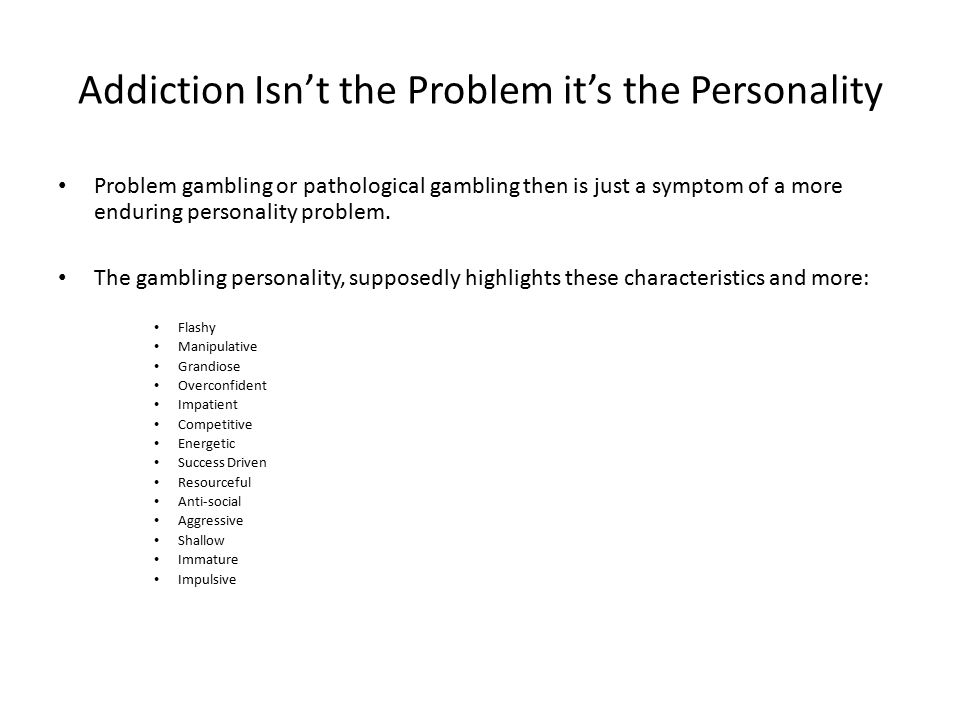 Personality and problem gambling atlantic city casino and hotel