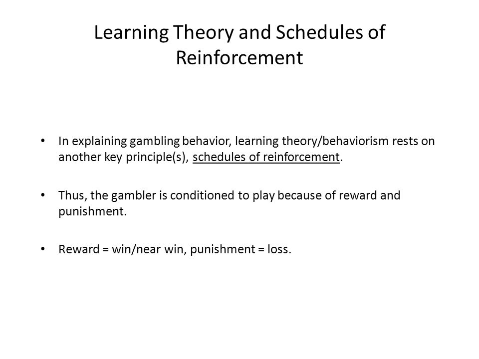 Gambling behavior is reinforced according to a eu commission green paper on online gambling