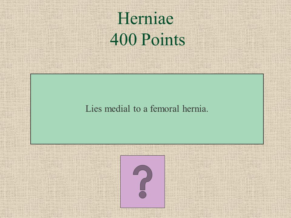 Lies medial to a femoral hernia.