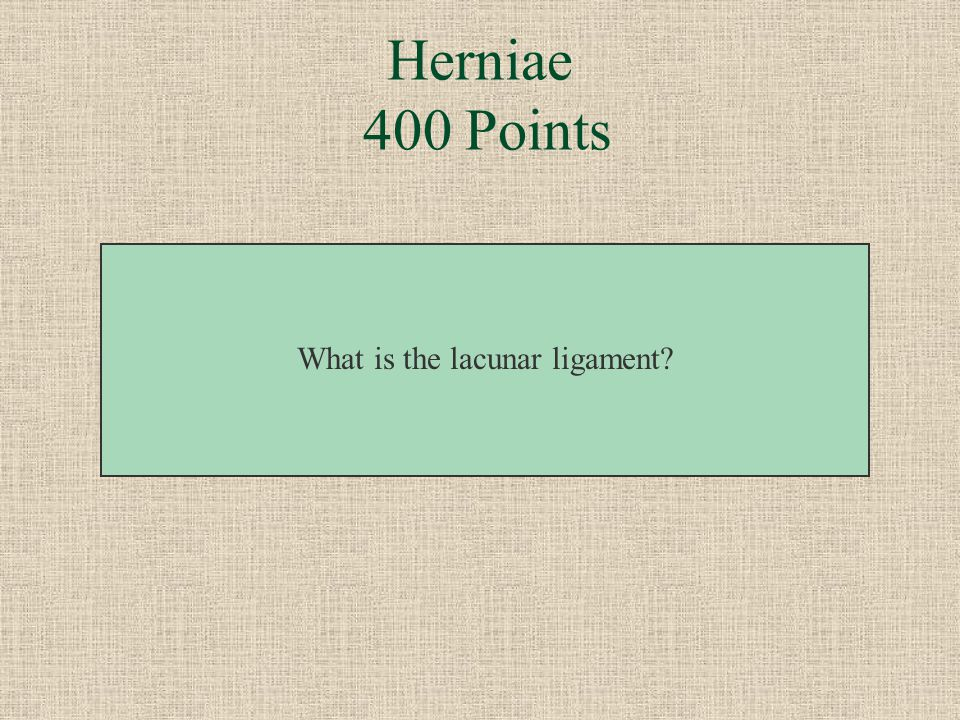 What is the lacunar ligament