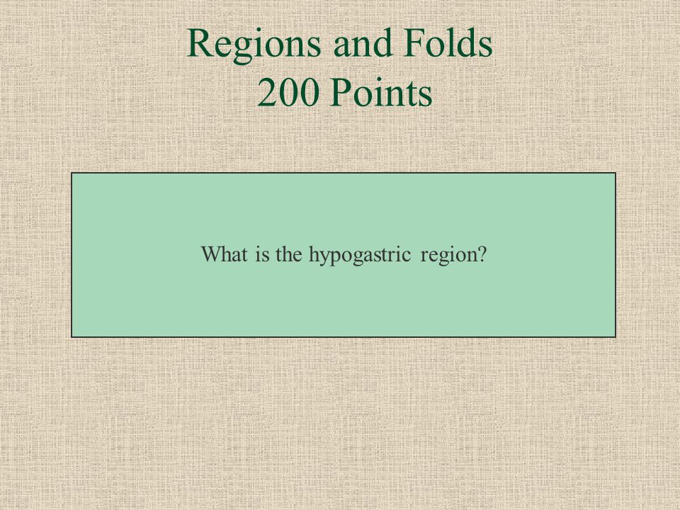 Regions and Folds 200 Points