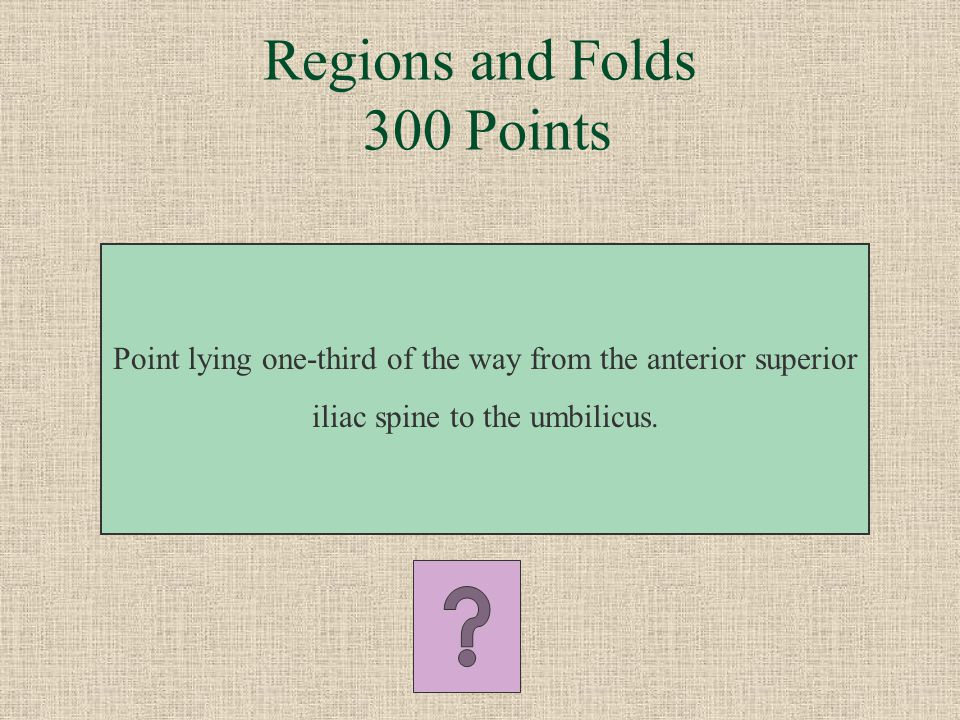 Regions and Folds 300 Points