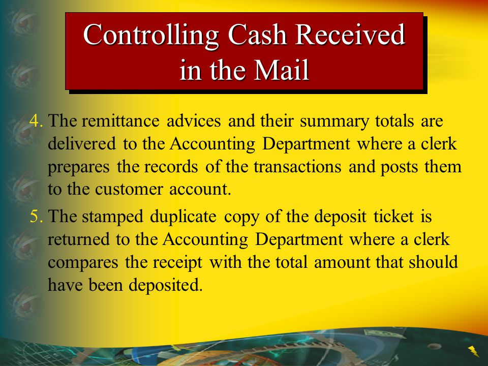 Controlling Cash Received in the Mail