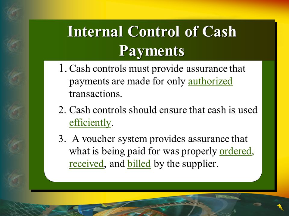 Internal Control of Cash Payments