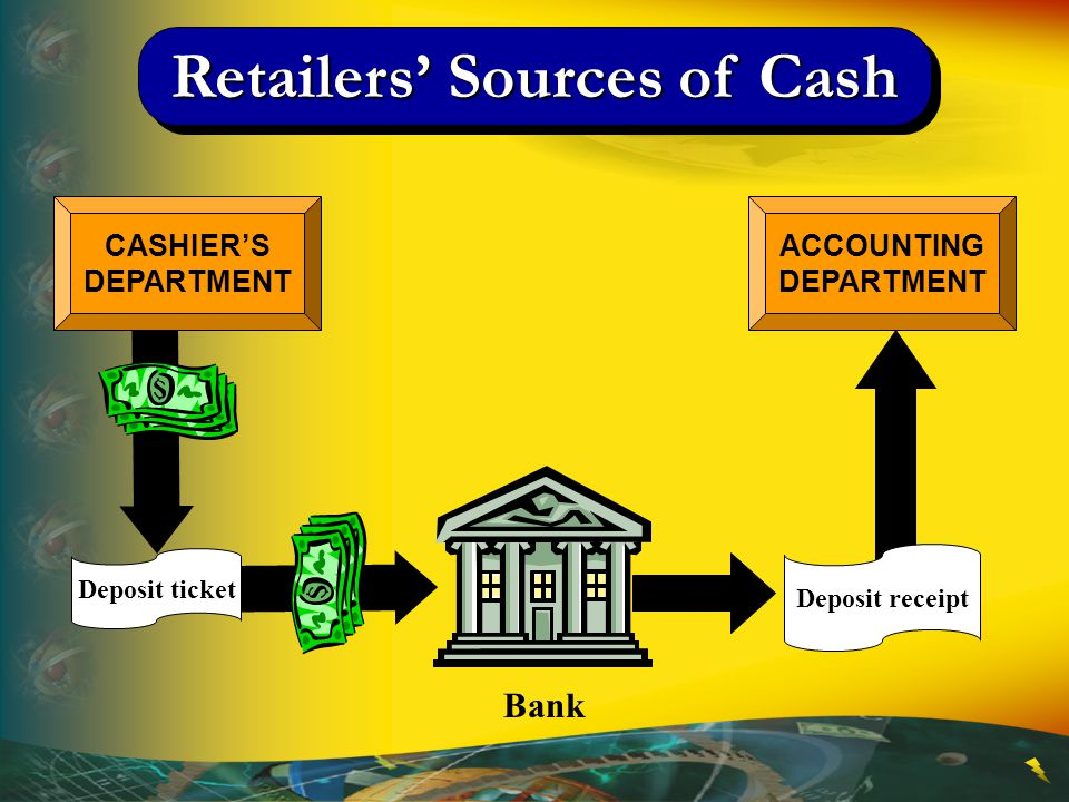 Retailers' Sources of Cash ACCOUNTINGDEPARTMENT