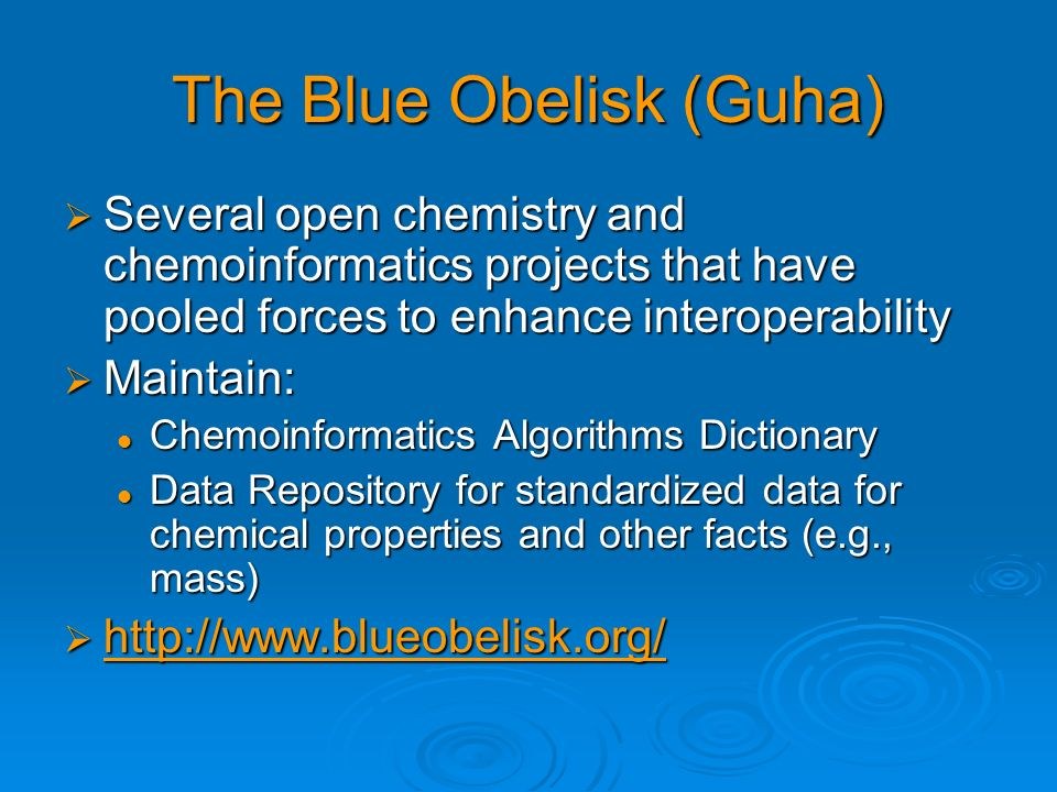 The Blue Obelisk (Guha)