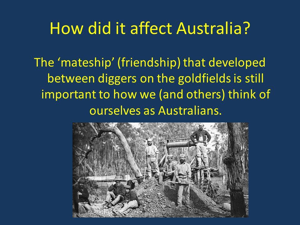 How did it affect Australia