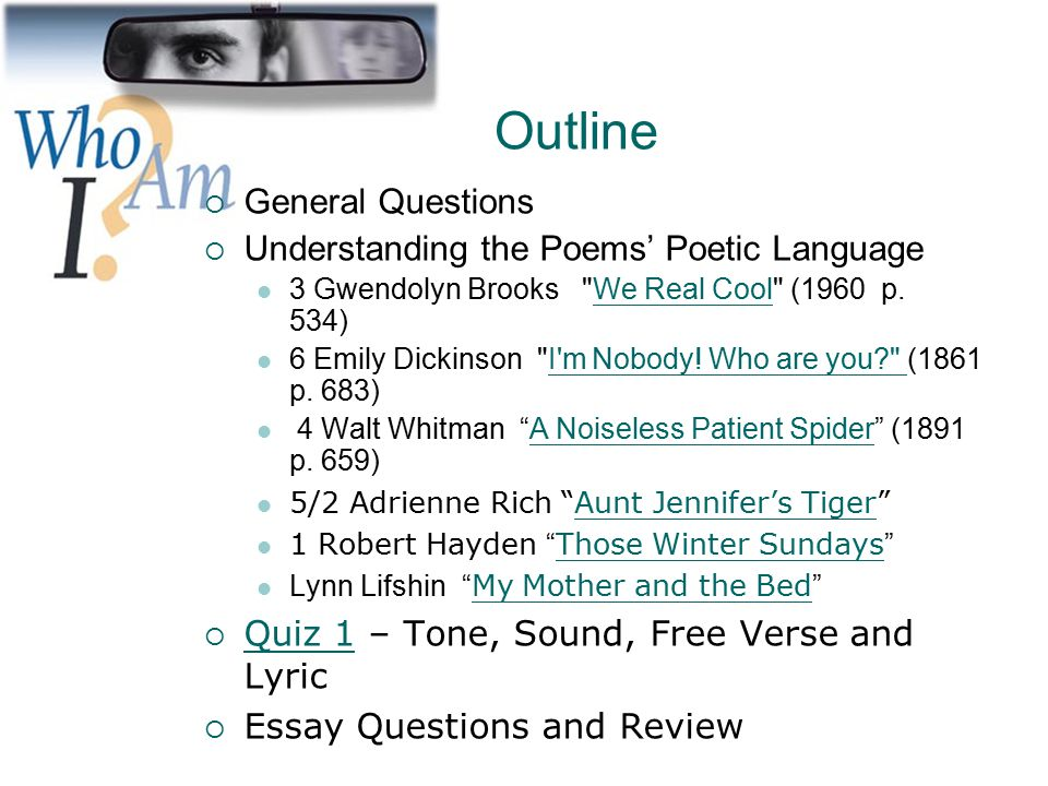 poetry identity family ppt video online  2 outline