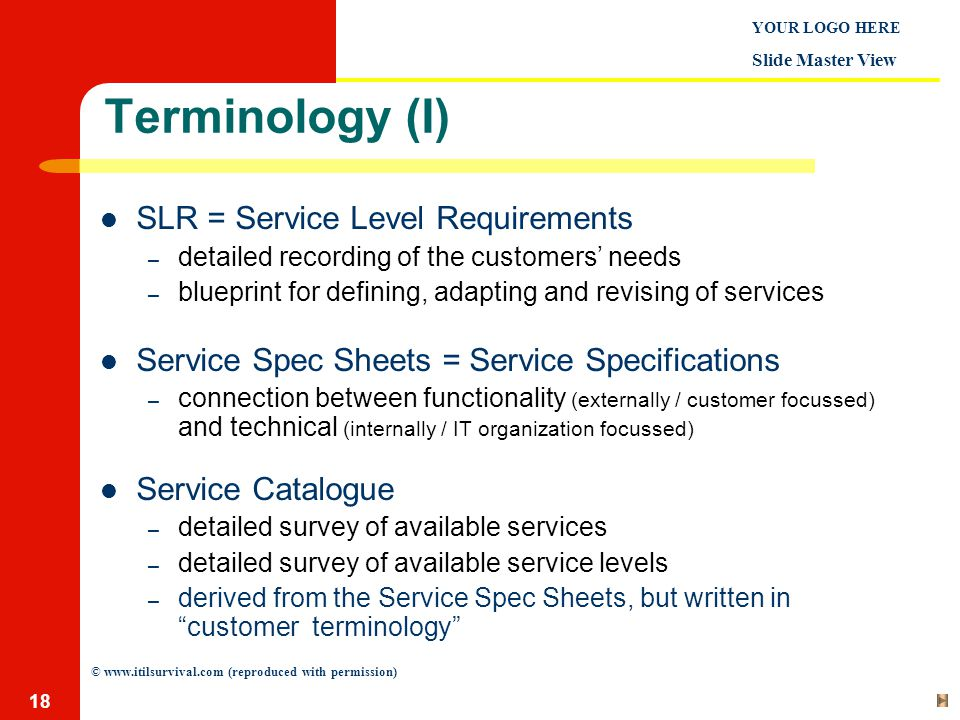 Service level management ppt download 18 terminology malvernweather Images
