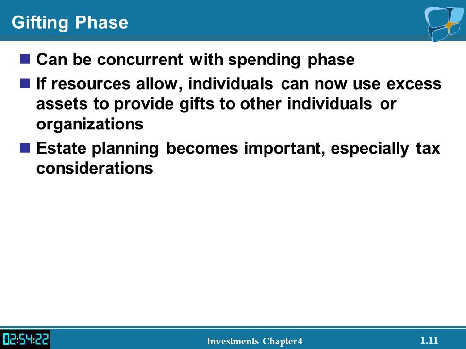 Gifting Phase Can be concurrent with spending phase