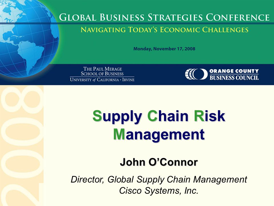 Supply Chain Risk Management Ppt Video Online Download