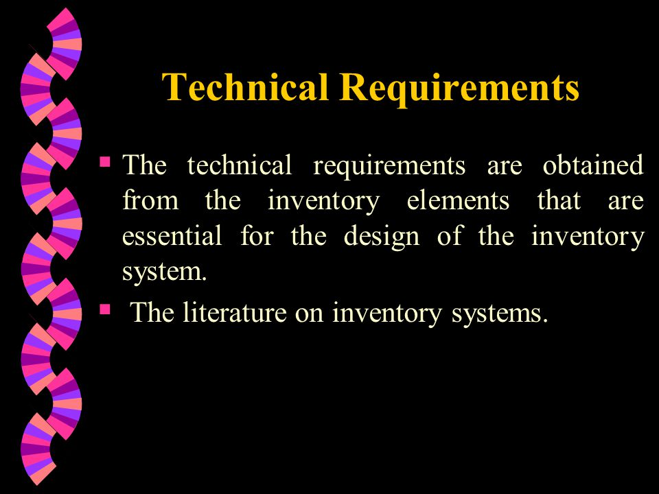 technicality of authomated inventory system Inventory management and tracking checklist the inventory management and tracking reference guide takes a systems approach to inventory control by looking at all functions related to inventory management from the procurement process through the service of meals.
