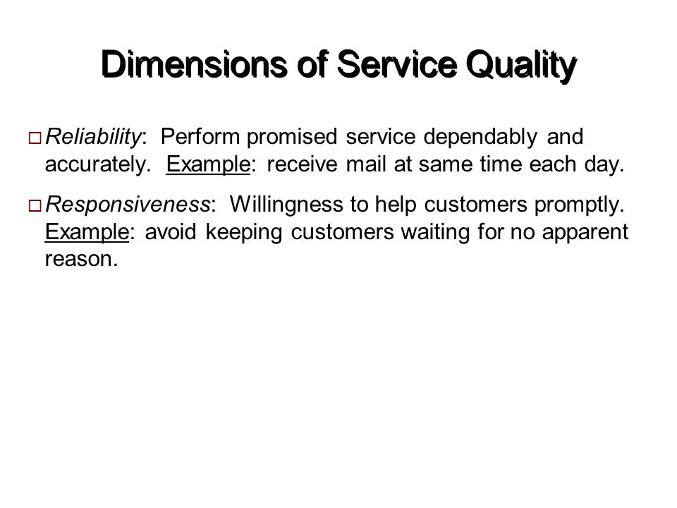 Service quality ppt video online download dimensions of service quality ccuart Image collections